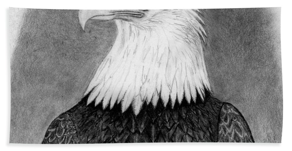Eagle Beach Towel featuring the drawing Above All by George Sonner