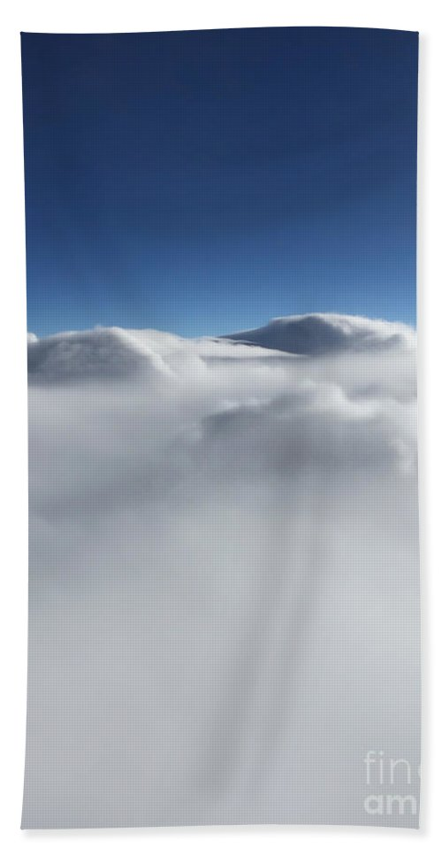 Sky Beach Towel featuring the photograph Above The Clouds II by Margie Hurwich