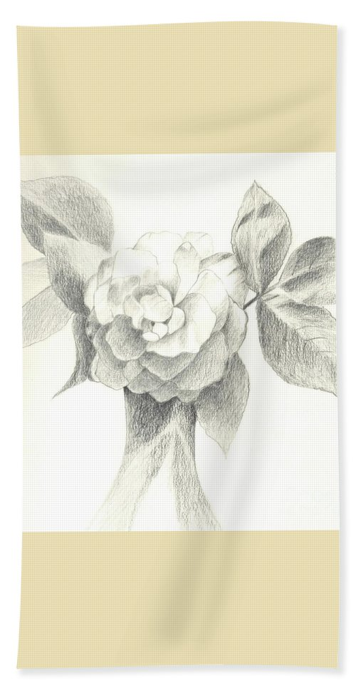 Rose Beach Towel featuring the drawing Abracadabra by Helena Tiainen