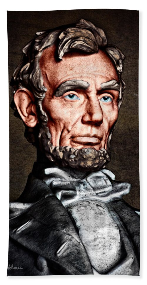 Abraham Lincoln Beach Towel featuring the photograph Abraham Lincoln by Christopher Holmes