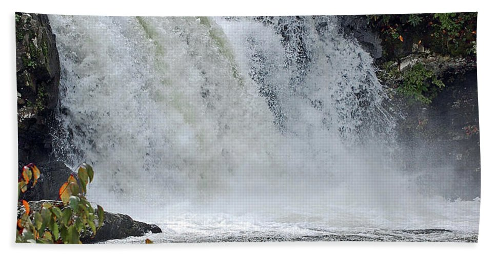 Water Falls Beach Towel featuring the digital art Abrams Falls Cades Cove Tn by DigiArt Diaries by Vicky B Fuller