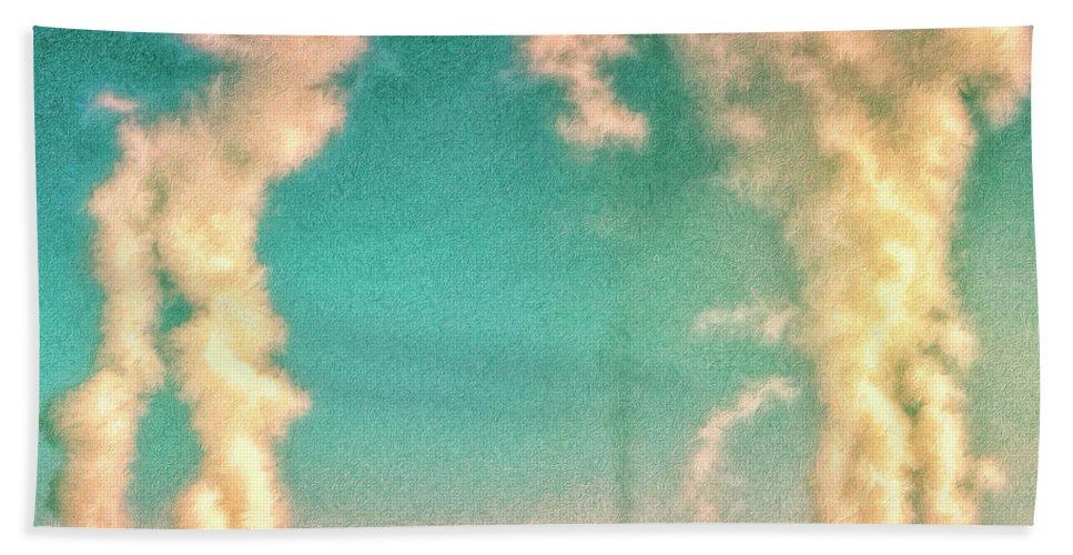 Nuclear Plant Beach Towel featuring the painting Abraxas 2 by Dominic Piperata