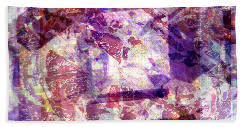 Abstract Beach Towel featuring the digital art Abstacked by Seth Weaver