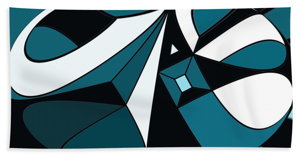 Abstract Beach Towel featuring the digital art Abstrac7-30-09-a by David Lane