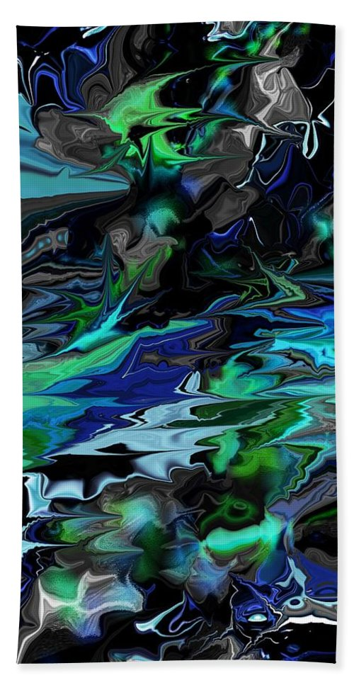 Abstract Beach Towel featuring the digital art Abstract 011211 by David Lane