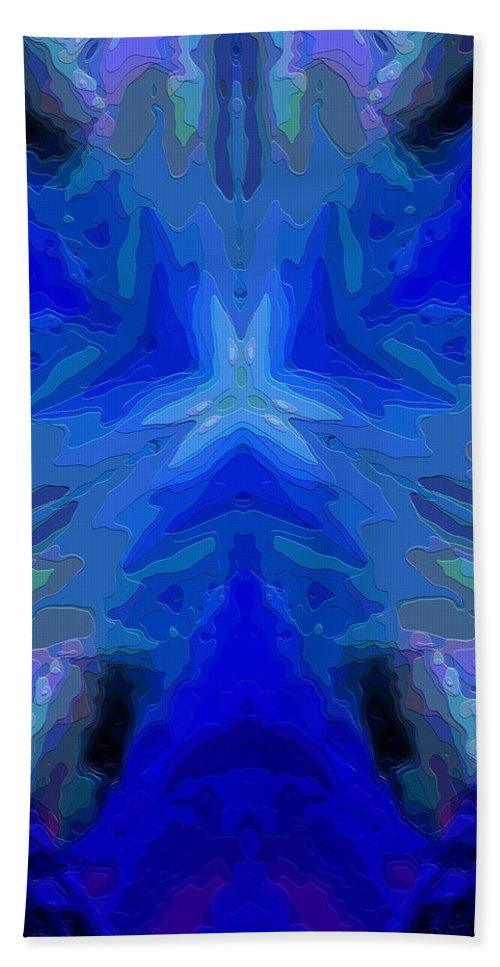 Abstract Beach Towel featuring the digital art Abstract 032811-2 by David Lane