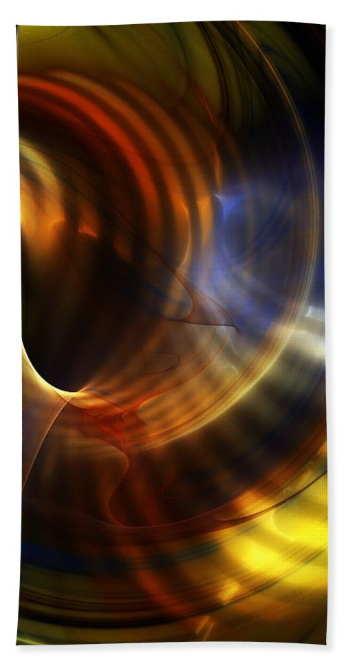Fine Art Beach Towel featuring the digital art Abstract 040511 by David Lane
