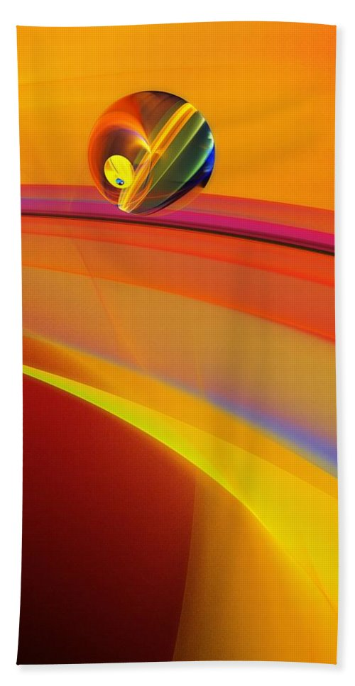Abstract Beach Towel featuring the digital art Abstract 052311 by David Lane
