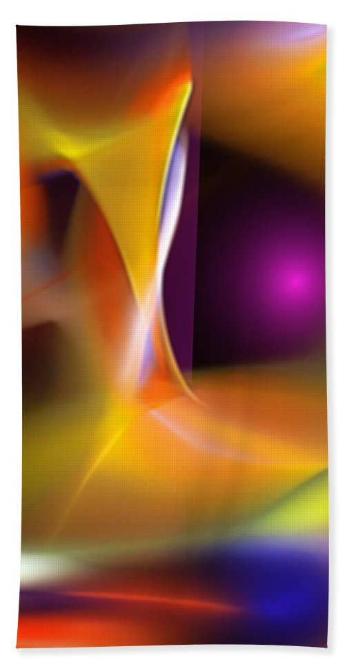 Abstract Beach Towel featuring the digital art Abstract 052411b by David Lane