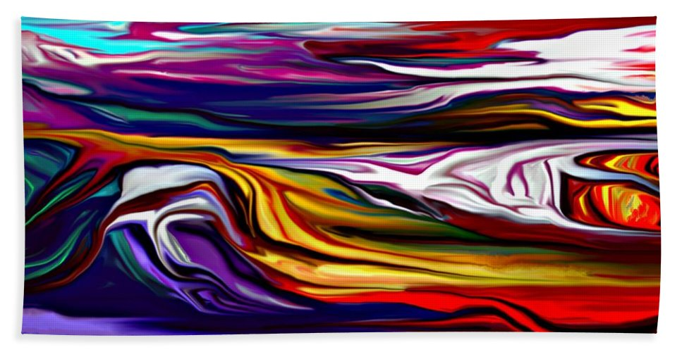 Abstract Beach Towel featuring the digital art Abstract 06-12-09 by David Lane