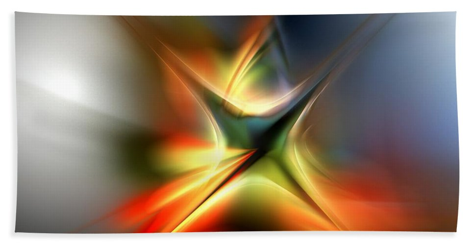 Digital Painting Beach Towel featuring the digital art Abstract 060310a by David Lane