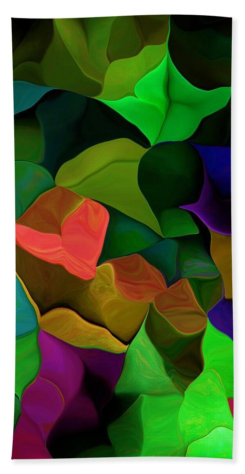 Fine Art Beach Towel featuring the digital art Abstract 063016 by David Lane