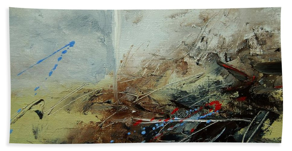 Abstract Beach Sheet featuring the print Abstract 070408 by Pol Ledent