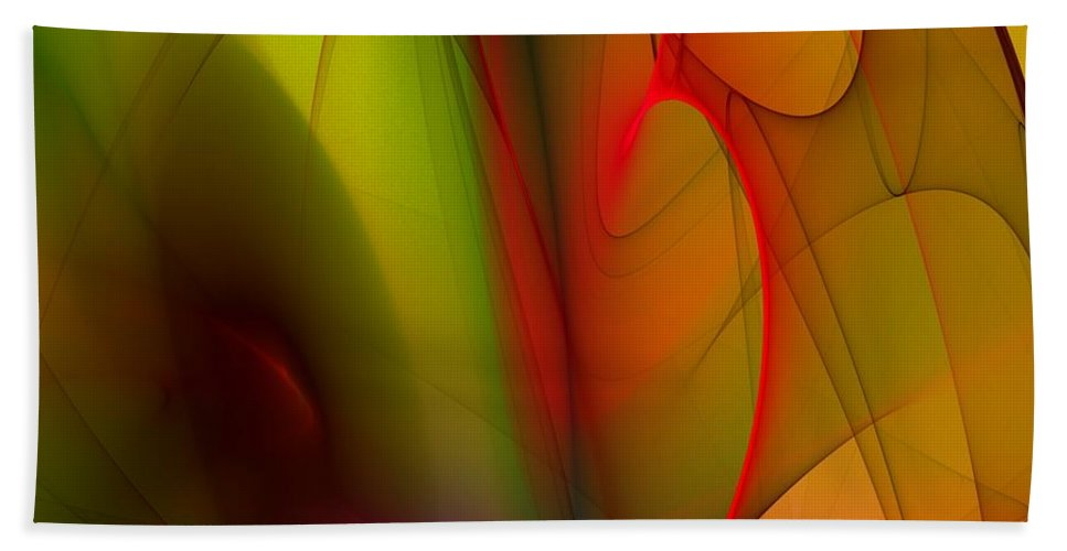 Fractal Beach Towel featuring the digital art Abstract 082910 by David Lane