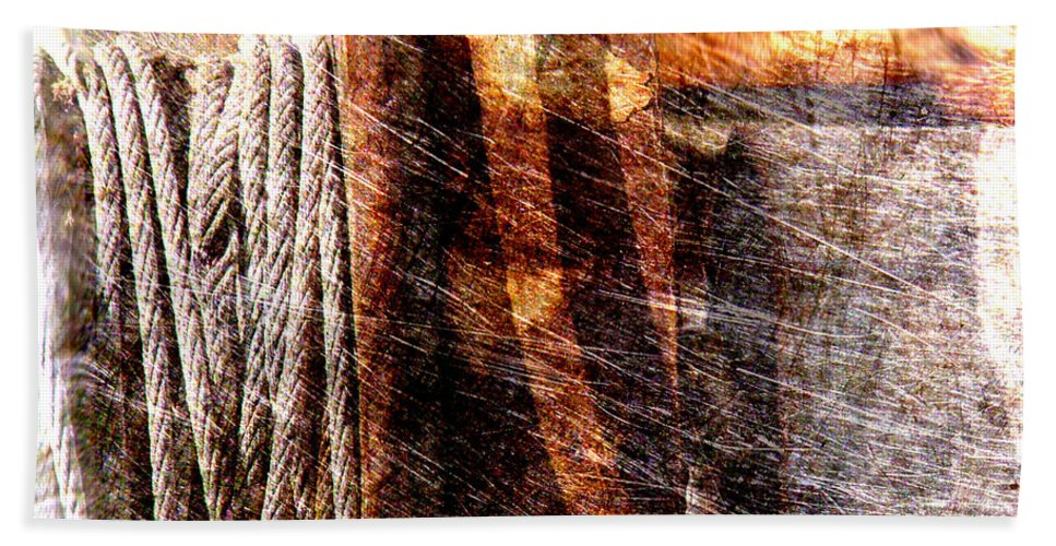 Rust Beach Towel featuring the photograph Abstract 1 by Susanne Van Hulst