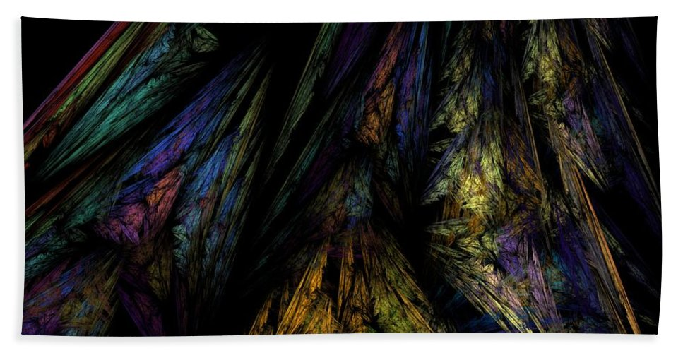 Abstract Digital Painting Beach Towel featuring the digital art Abstract 10-08-09-1 by David Lane