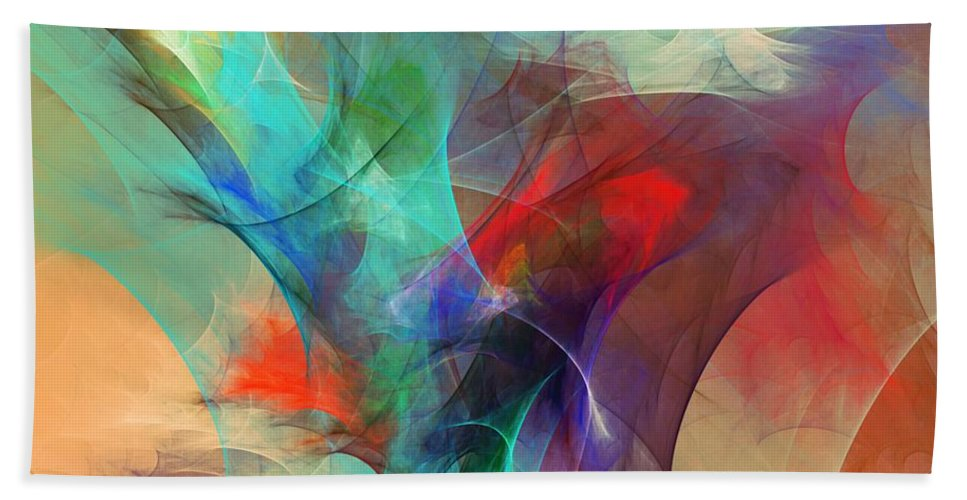 Fine Art Digital Art Beach Towel featuring the digital art Abstract 103010 by David Lane