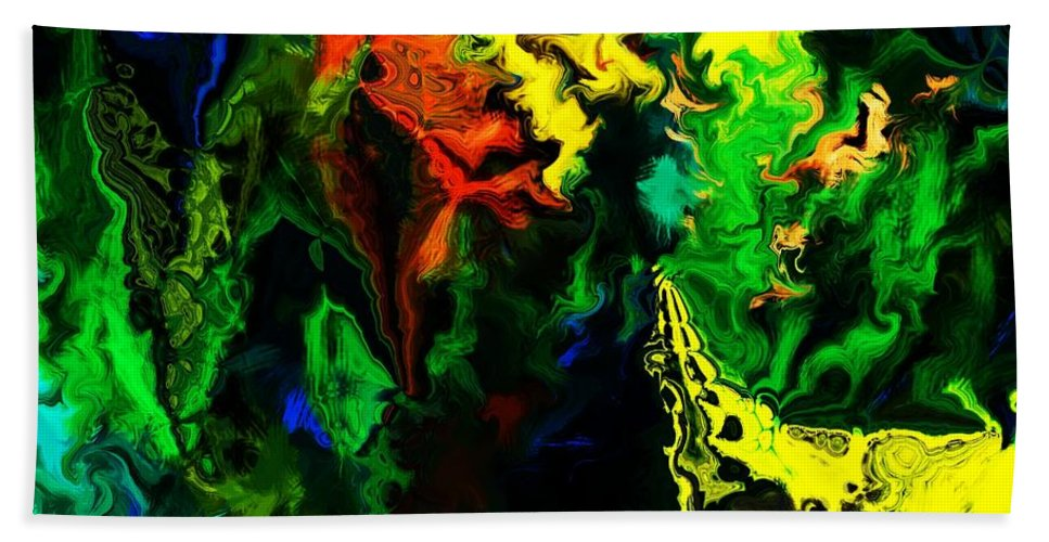 Abstract Beach Towel featuring the digital art Abstract 2-23-09 by David Lane