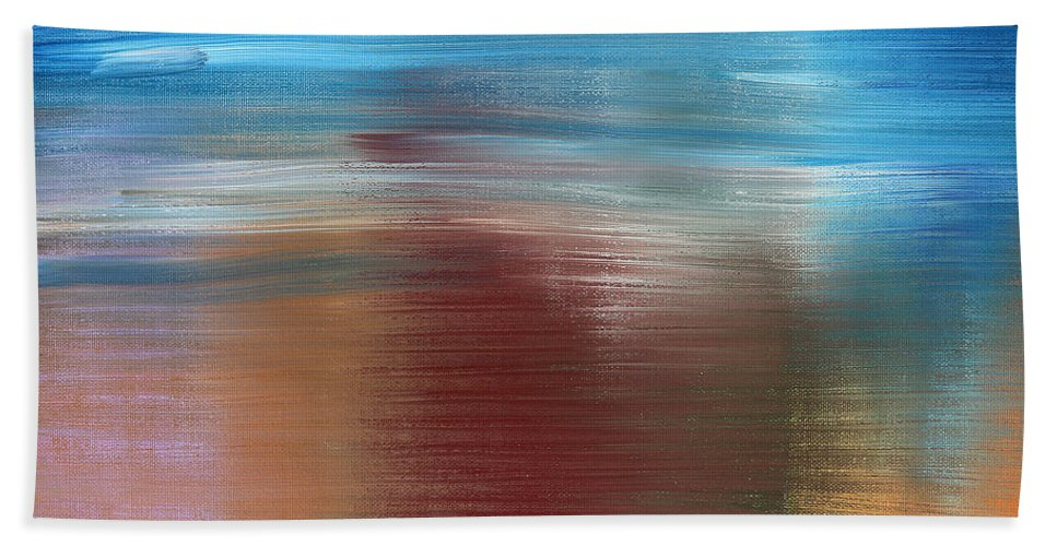 Abstract Beach Towel featuring the painting Abstract 422 by Patrick J Murphy