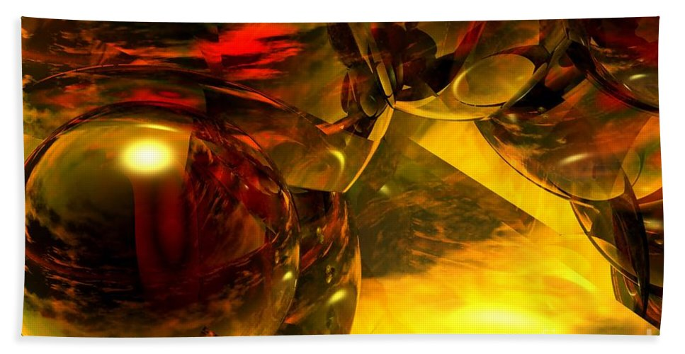 Abstract Beach Towel featuring the digital art Abstract 5-21-09 by David Lane