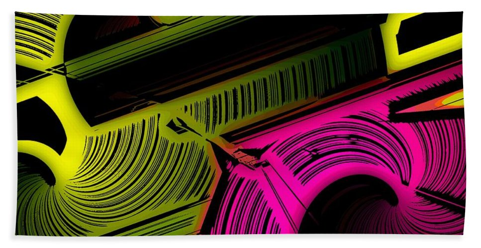 Abstract Beach Towel featuring the digital art Abstract 6-21-09 by David Lane