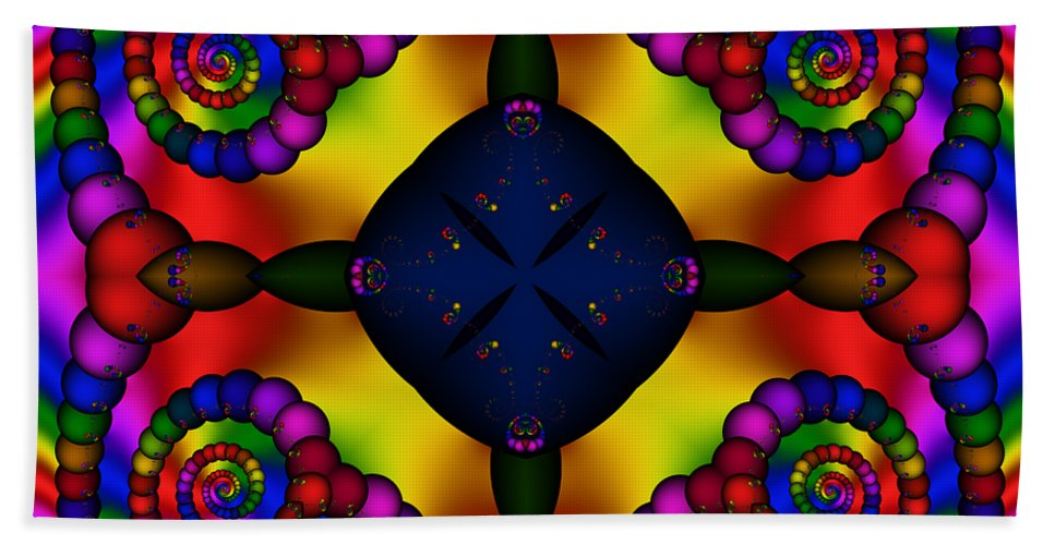Abstract Beach Towel featuring the digital art Abstract 650 by Rolf Bertram