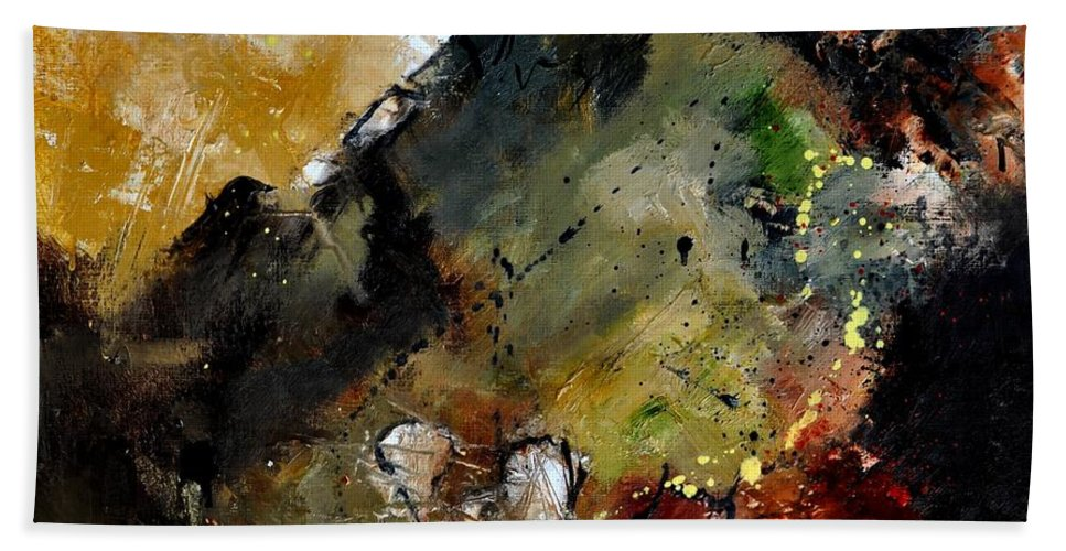 Abstract Beach Towel featuring the painting Abstract 6611402 by Pol Ledent