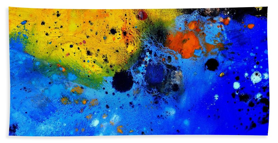 Abstract Beach Towel featuring the painting Abstract 767b by Pol Ledent