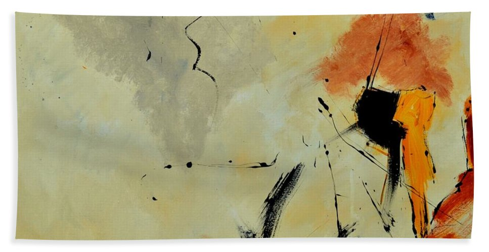 Abstract Beach Towel featuring the painting Abstract 88112070 by Pol Ledent