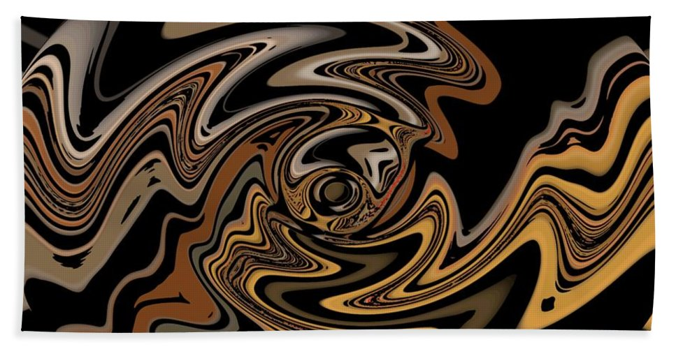 Abstract Digital Painting Beach Towel featuring the digital art Abstract 9-11-09 by David Lane