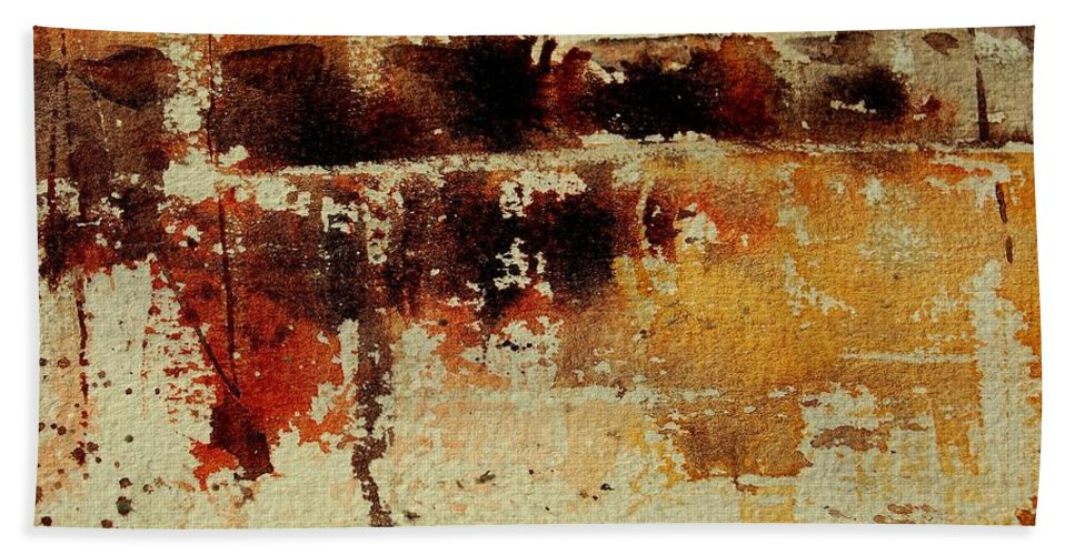 Abstract Beach Towel featuring the painting Abstract 90801245 by Pol Ledent
