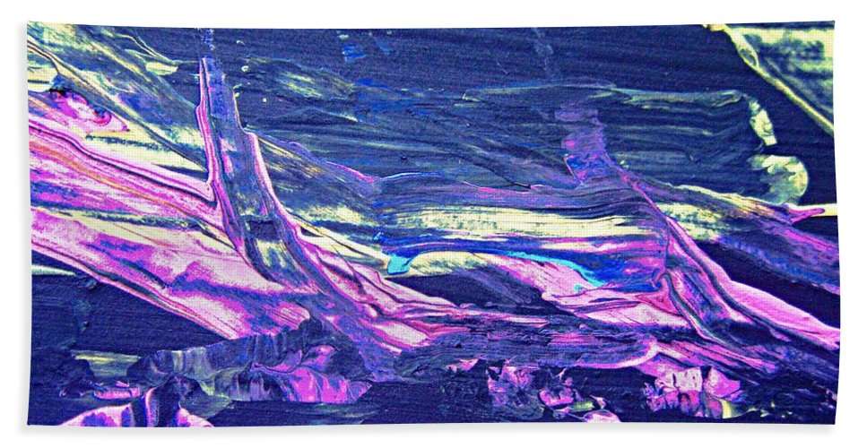 Purple Beach Towel featuring the painting Abstract 9097 by Stephanie Moore