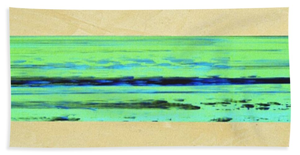 Beach Beach Towel featuring the mixed media Abstract Beach Landscape by Corbin Henry