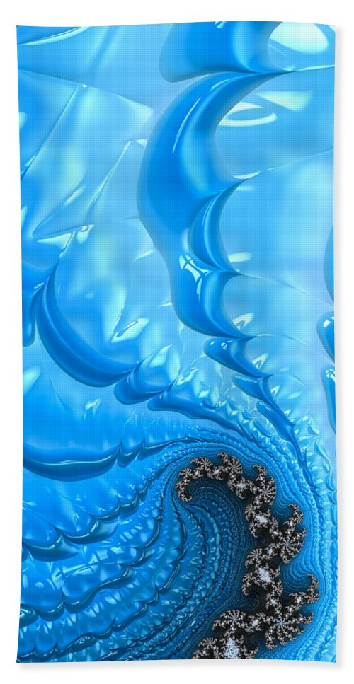 Blue Beach Towel featuring the photograph Abstract Blue Winter Fractal by Matthias Hauser