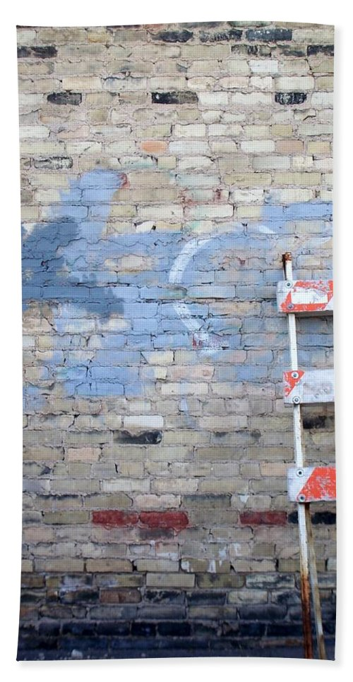 Industrial Beach Sheet featuring the photograph Abstract Brick 2 by Anita Burgermeister