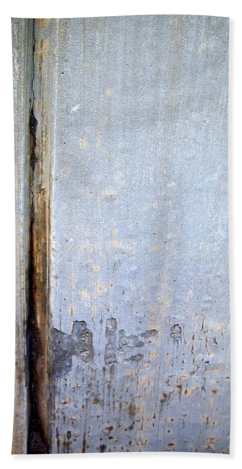 Industrial. Urban Beach Sheet featuring the photograph Abstract Concrete 19 by Anita Burgermeister