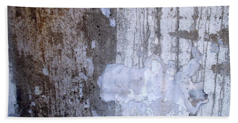 Industrial. Urban Beach Sheet featuring the photograph Abstract Concrete 8 by Anita Burgermeister