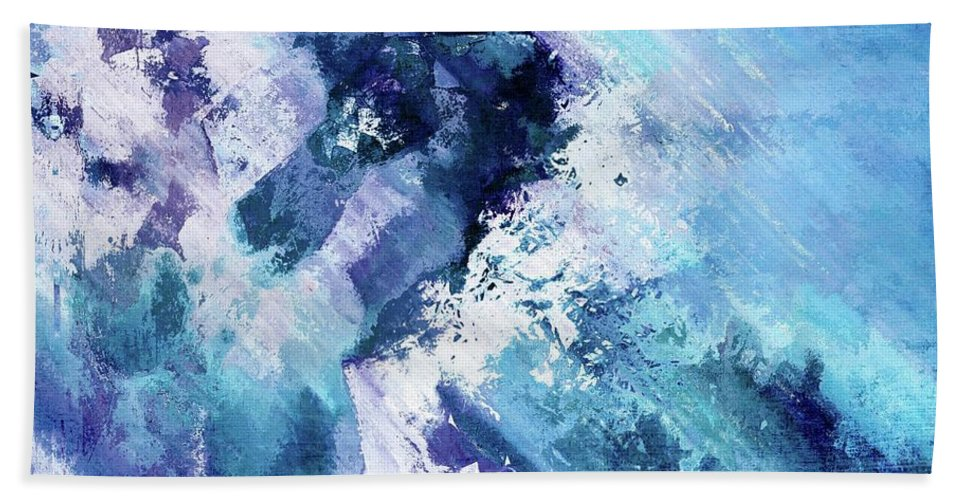 Blue Beach Towel featuring the digital art Abstract Division - 72t02 by Variance Collections