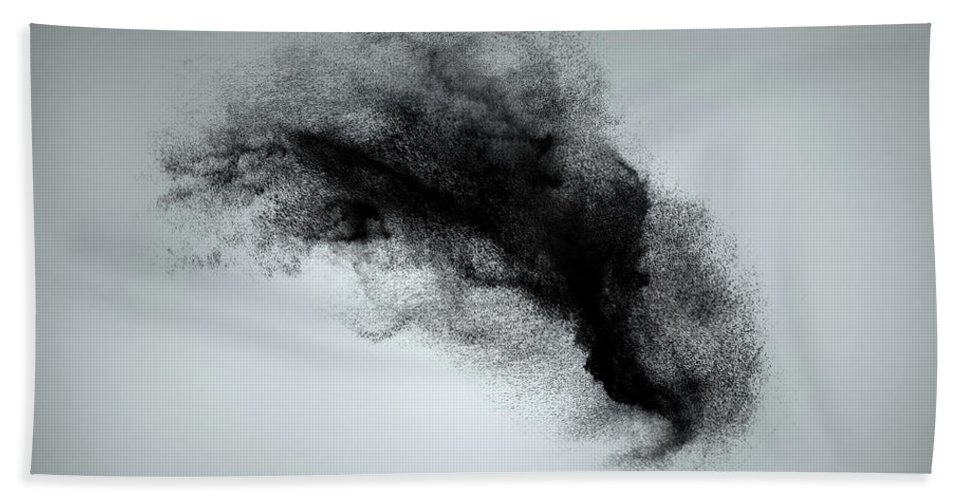 Dust Beach Towel featuring the photograph Abstract Dust Cloud Background by IPolyPhoto Art