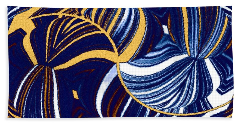 Abstract Beach Towel featuring the digital art Abstract Fusion 279 by Will Borden