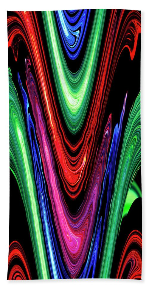 Abstract Beach Towel featuring the digital art Abstract II by DigiArt Diaries by Vicky B Fuller