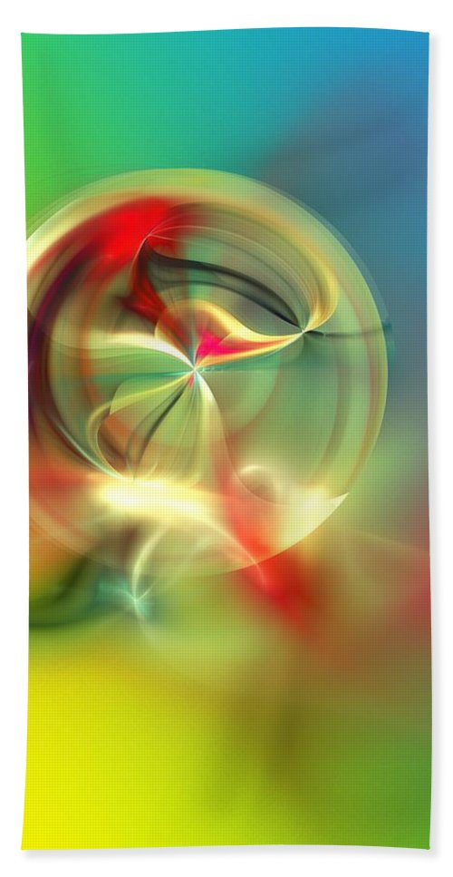 Fine Art Beach Towel featuring the digital art Abstract Karma Wheel by David Lane