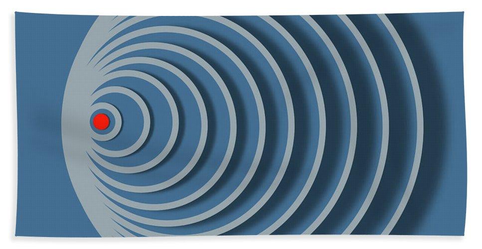 Spiral Beach Towel featuring the digital art Abstract No 20 by Diana De Avila