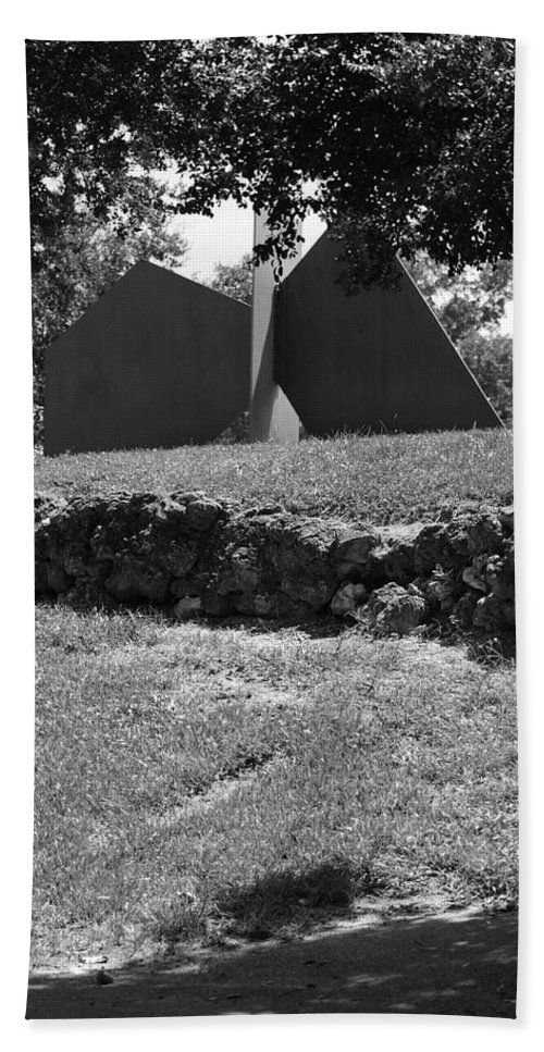 Black And White Beach Towel featuring the photograph Abstract Sculpture by Rob Hans