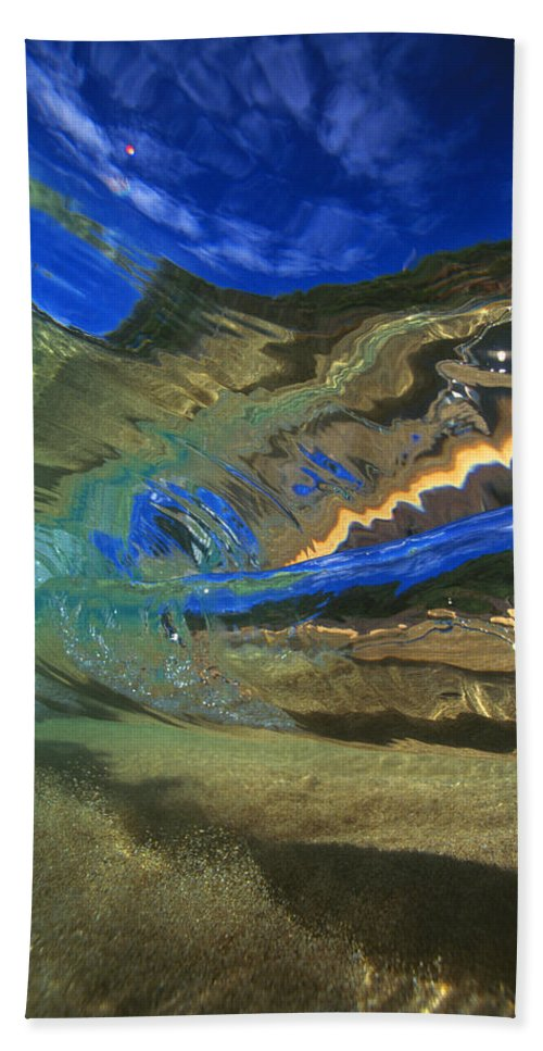 Abstract Beach Towel featuring the photograph Abstract Underwater View by Vince Cavataio - Printscapes