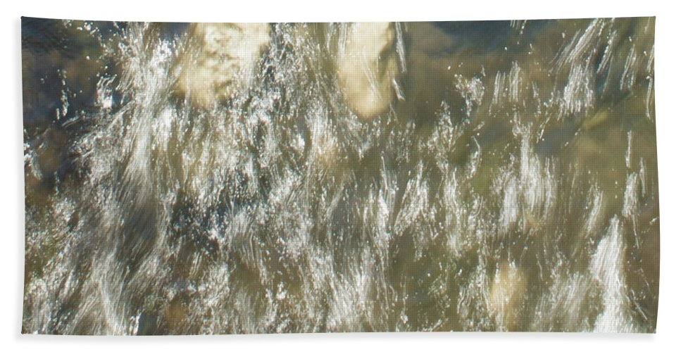 Water Beach Towel featuring the photograph Abstract Water Art V by Lori Lynn Sadelack