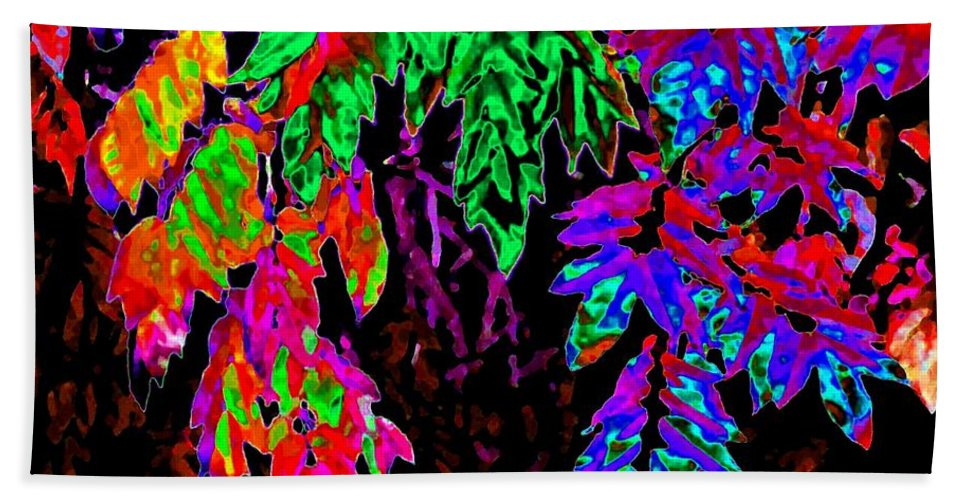 Abstract Beach Towel featuring the digital art Abstract Wisteria by Will Borden