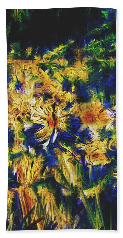 Abstract Digital Painting Beach Towel featuring the digital art Abstract11-06-09 by David Lane
