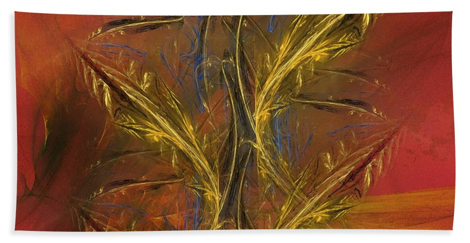 Fine Art Beach Towel featuring the digital art Abstraction 072011 by David Lane