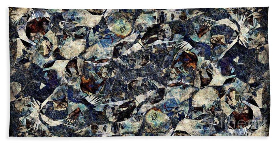 Abstraction Beach Sheet featuring the digital art Abstraction 2326 by Marek Lutek